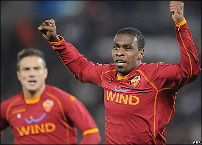 Roma's Juan levels to tie
