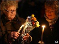 Candlelit vigil in Craigavon