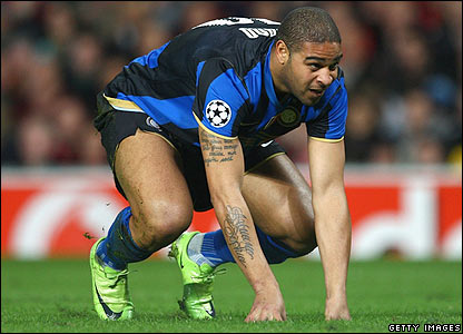 Adriano rues his luck