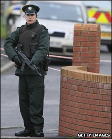 Policeman in Craigavon