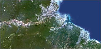 Vista aérea de la Amazonía