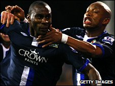 Jason Roberts and El-Hadj Diouf