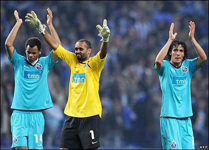 Porto celebrate their win
