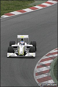 Jenson Button in his Brawn GP car