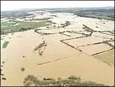 Flooding on River Trent