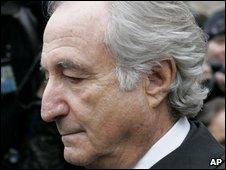 Bernard Madoff at Tuesday's hearing