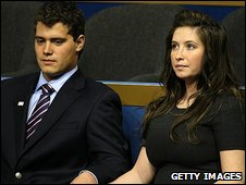 Levi Johnston and Bristol Palin (file image)