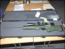 Gun recovered from Ramsay Scott's home