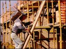 hod carrier on building site