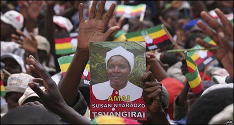 Mourners at Susan Tsvangirai's funeral