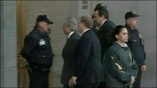 Bernard Madoff arrives in court