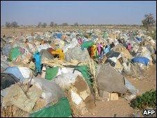 Medecins Sans Frontieres refugees camp in Darfur