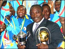 President Kabila honoured the players at a function in Goma