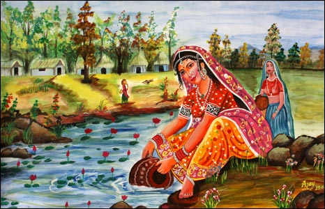 A painting by former Tihar jail inmate Ajay