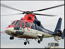 The Eurocopter AS365N which crashed
