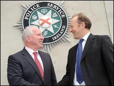 PSNI Chief Constable Sir Hugh Orde met  Garda Commissioner Fachtna Murphy at PSNI headquarters