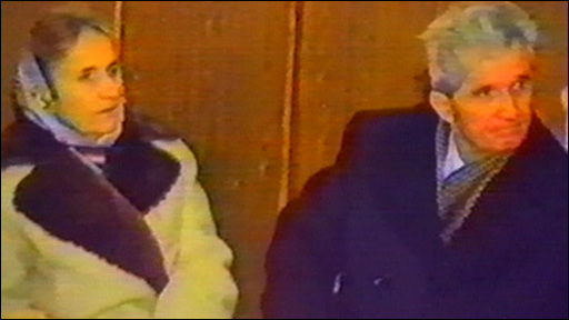 Nicolae Ceausescu and his wife Elena