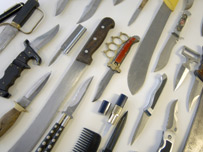 Knives recovered in London