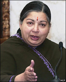 File photo of Jayalalitha