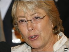 Chilean President Michelle Bachelet (file)