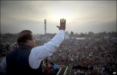 Nawaz Sharif in Lahore