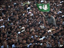 PML-N supporters in Lahore