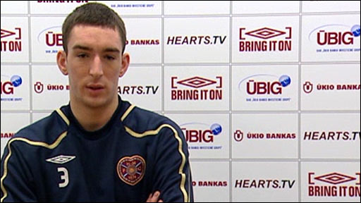 Young player of the month for February, Lee Wallace