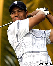 Tiger Woods in action in Doral