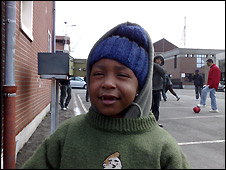 Five-year-old Sabella comes from Eritrea