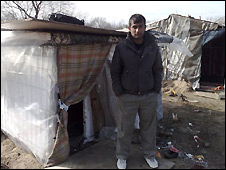"Afghan migrant in ""the Jungle"" - their camp in Calais"