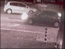 CCTV image of a car police would like to trace
