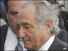Madoff arriving for Thursday's court hearing