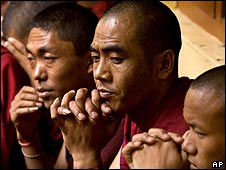 Tibetan monks in Dharamsala, India
