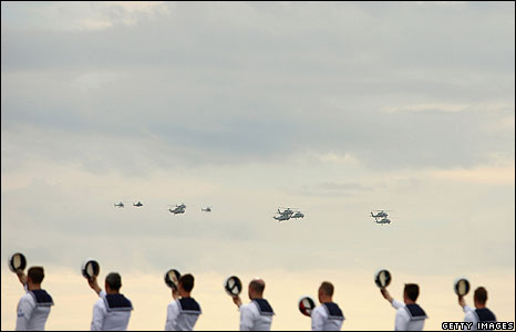 Navy ceremonial exercise in Sydney Harbour