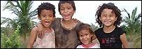 Niños en la zona de Bajo Lempa, El Salvador