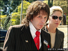 Phil Spector and wife Rachelle Spector