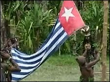 Rebels raise the Morning Star flag