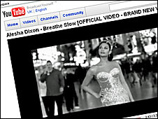 Alesha Dixon video on YouTube