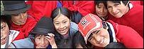 Niños indígenas ecuatorianos