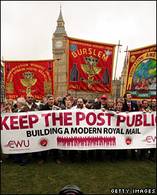 CWU protest at Parliament
