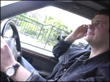 Driver talking on a mobile phone (generic)