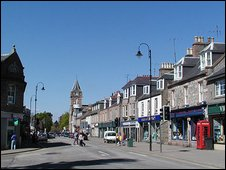 Banchory High Street, picture from Undiscovered Scotland