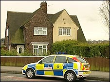 Police car outside the house