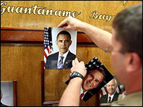 Cambio de guardia en Guantánamo