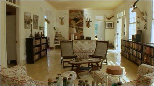 Inside Hemingway's home