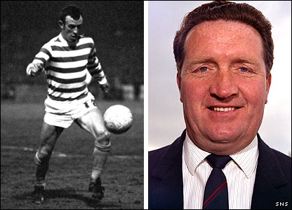 Bobby Lennox and Jock Stein