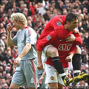 Cristiano Ronaldo, Manchester United; Sammi Hyypia, Liverpool