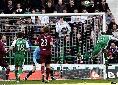 Steven Fletcher scores the opening goal