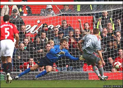 Rio Ferdinand, Edwin van der Sar, Manchester United; Steven Gerrard, Liverpool