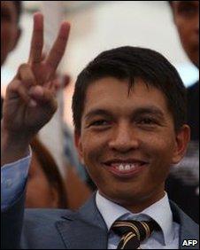 Andry Rajoelina in Antananarivo on 14 March 2009